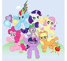 My Little Pony FiM - The Mane Six Photographic Print