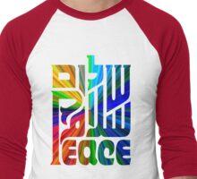 Language of Peace - Hebrew, Arabic, and English. Men's Baseball ¾ T-Shirt