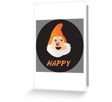 HAPPY DWARF Greeting Card