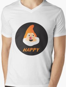 HAPPY DWARF Mens V-Neck T-Shirt