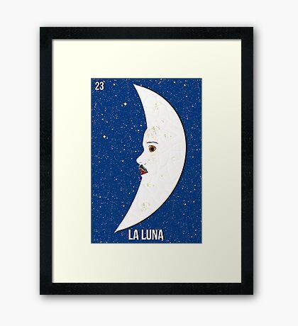 LOTERIA- LA LUNA Framed Print