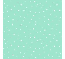 Random stars on plain background  Photographic Print
