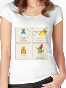 Euclid's Elements Book 1 GeoBunnies 4-Panels Women's Fitted Scoop T-Shirt