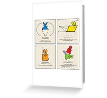 Euclid's Elements Book 1 GeoBunnies 4-Panels Greeting Card