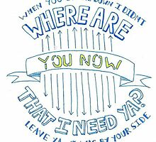 "Justin Bieber's ""Where Are You Now"" Lyric Drawing by abundancedraws"
