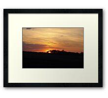 SUNRISE NEAR EDMONTON ALBERTA  Framed Print