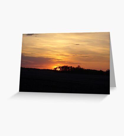 SUNRISE NEAR EDMONTON ALBERTA  Greeting Card