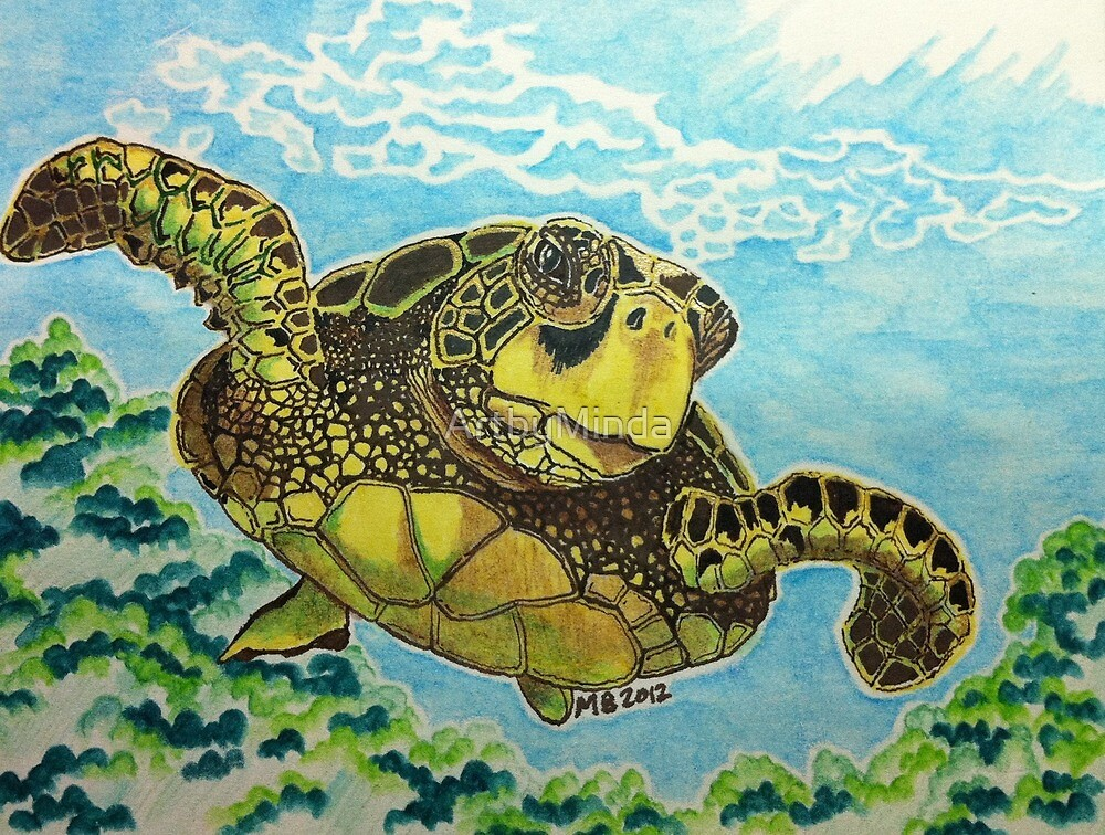 Sea Turtle by ArtbyMinda