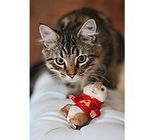 Rubix and the Chipmunk Photographic Print