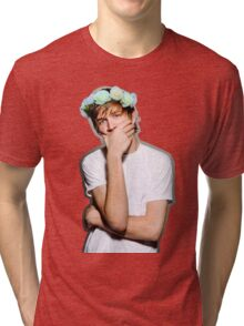 Bo Burnham Flower crown Tri-blend T-Shirt