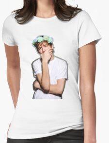 Bo Burnham Flower crown Womens Fitted T-Shirt