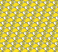 Tessellation Pattern Yellow Parallelograms by 2redheadedbros