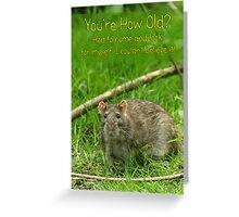 Funny Birthday Card - Wild Brown Rat  Greeting Card