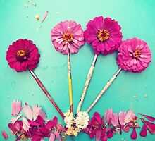 Flower paint Brushes by Odette Angelica