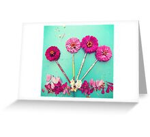 Flower paint Brushes Greeting Card