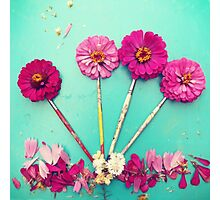 Flower paint Brushes Photographic Print