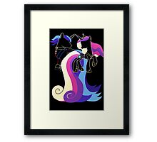 Minimalist Shining Armour and Princess Cadence Framed Print