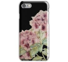 Graceful Blooms on Black - Watercolor iPhone Case/Skin
