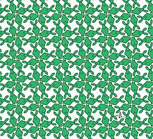 Tessellation Pattern Green Rhombuses by 2redheadedbros