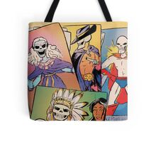 Skull-Headed Heroes Tote Bag