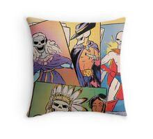 Skull-Headed Heroes Throw Pillow