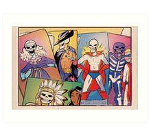 Skull-Headed Heroes Art Print