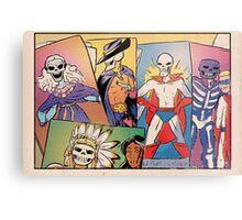 Skull-Headed Heroes Metal Print