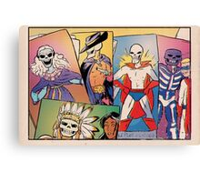 Skull-Headed Heroes Canvas Print