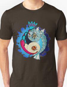 Paint-Splattered Aquatic Yin Yang - Gyarados & Milotic T-Shirt