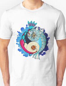 Paint-Splattered Aquatic Yin Yang - Gyarados & Milotic Unisex T-Shirt