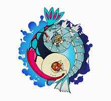 Paint-Splattered Aquatic Yin Yang - Gyarados & Milotic Unisex T-Shirt