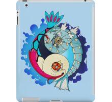 Paint-Splattered Aquatic Yin Yang - Gyarados & Milotic iPad Case/Skin