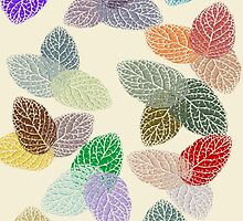 Coloured Leaf Pattern 2272 Views by aldona