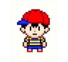 Ness - Earthbound Smash Bros Mini Pixel Art Print