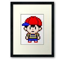 Ness - Earthbound Smash Bros Mini Pixel Framed Print