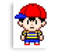 Ness - Earthbound Smash Bros Mini Pixel Canvas Print