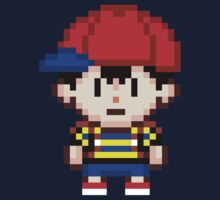 Ness - Earthbound Smash Bros Mini Pixel One Piece - Long Sleeve
