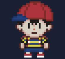 Ness - Earthbound Smash Bros Mini Pixel One Piece - Long Sleeve