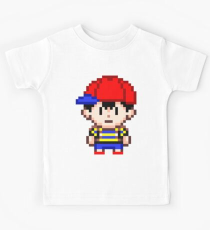 Ness - Earthbound Smash Bros Mini Pixel Kids Tee
