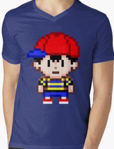 Ness - Earthbound Smash Bros Mini Pixel Mens V-Neck T-Shirt