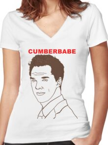 Cumberbabe Women's Fitted V-Neck T-Shirt