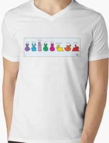 GeoBunnies Lineup Mens V-Neck T-Shirt