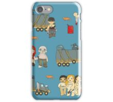 Across the Wasteland (in Cerulean) iPhone Case/Skin