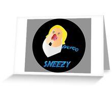 SNEEZY DWARF Greeting Card