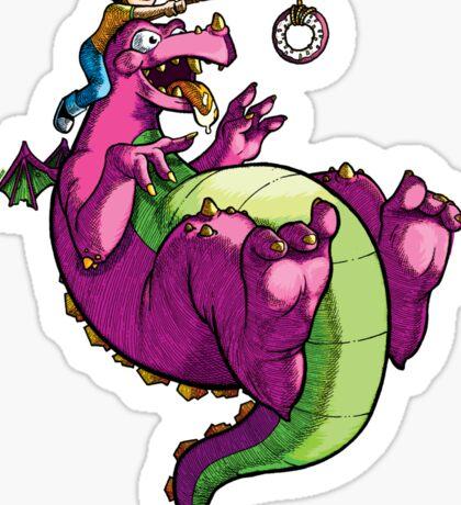 Dragons Love Donuts Sticker