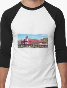 Criterian Hotel, Gundagai, N.S.W. Australia (Panorama) Men's Baseball ¾ T-Shirt