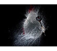 Dart vs Water Balloon Photographic Print