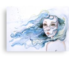 """Lily"" Surreal Watercolor Portrait Metal Print"