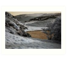 Holyrood Park in the near infrared Art Print