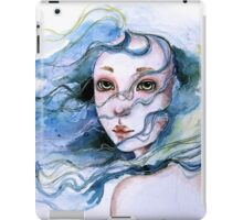 """Lily"" Surreal Watercolor Portrait iPad Case/Skin"